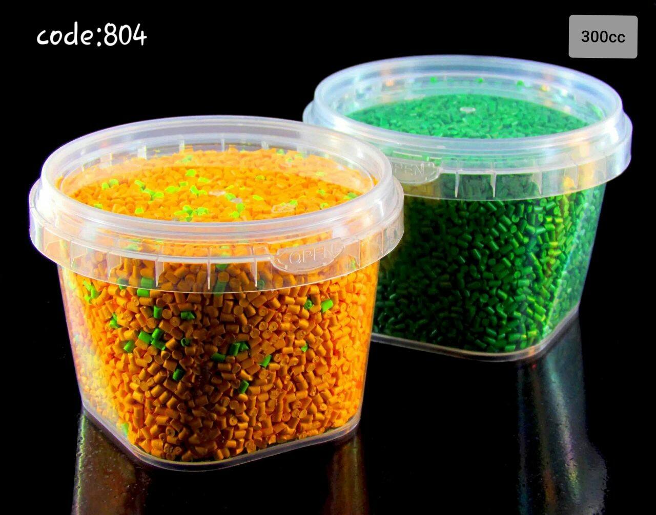 ظروف پلاستیکی خرما چهارگوش 900 گرم